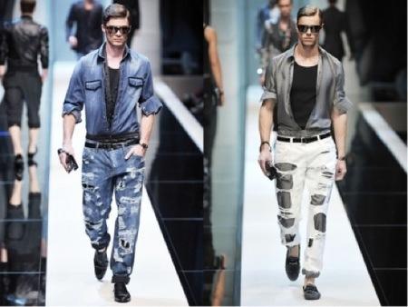 Tendencias futuras: Pantalones destrozados, por Dolce & Gabbana
