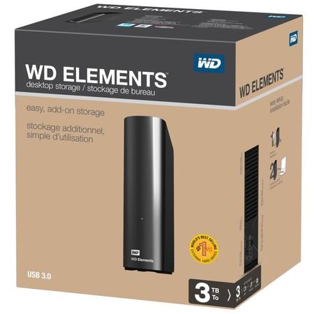 Disco duro externo WD Elements de 3TB por 93,77 euros y envío gratis