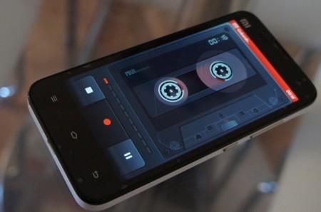 Grabadora de audio con un genial toque retro, otra de las características de MIUI