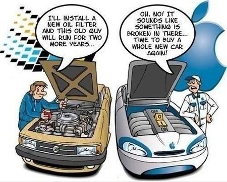 Coche Microsoft y coche Apple