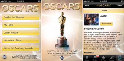 The Oscars, la aplicación oficial de los premios de cine