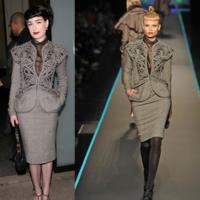 Más looks de Dita Von Teese en la Semana de la Moda de París