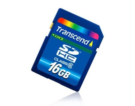 Tarjeta SDHC Transcend de 16 GB y clase 6
