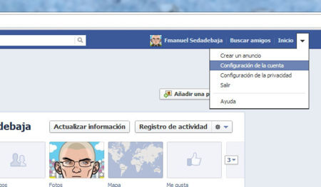 Baja Facebook paso 1