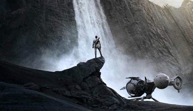 Imagen con un cartel de la película 'Oblivion'