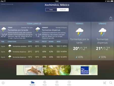 The Weather Channel App iPad