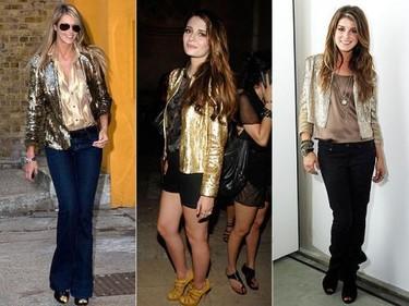 Tendencias a debate: las chaquetas de lentejuelas doradas