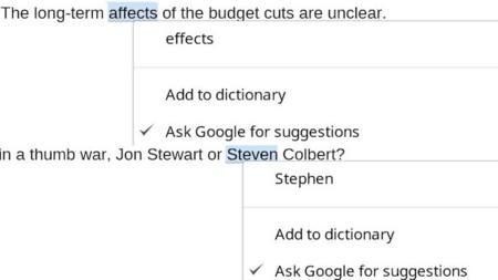 Llega Chrome 26 con la corrección ortográfica sugerida por Google