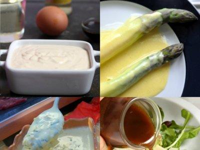 Mayonesa, holandesa, bearnesa y vinagreta. Las pequeñas salsas básicas de la gastronomía