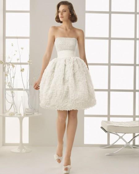 novia corto rosa clara