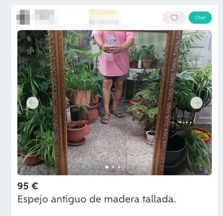 Window Y Espejo Antiguo De Madera Tallada De Segunda Mano Por 95 Eur En Malaga En Wallapop