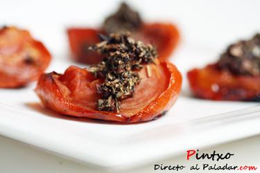Receta de tomates balsámicos asados a fuego lento