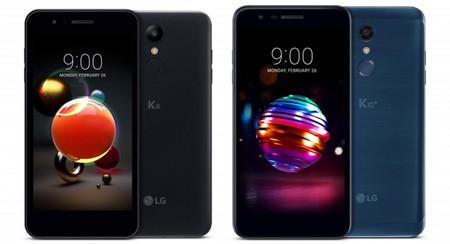 LG K8 y LG K10 2018: la gama más económica se renueva con más potencia y memoria