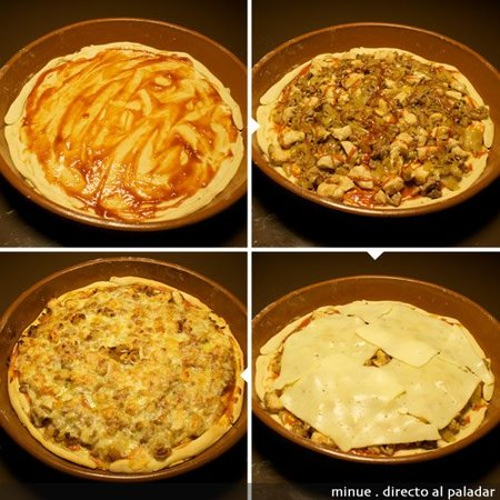 pizza barbacoa - elaboración 2