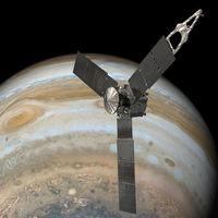 Juno se acerca como nunca a la Gran Mancha Roja de Júpiter y ha permitido descubrir una nueva zona de radiación en el planeta