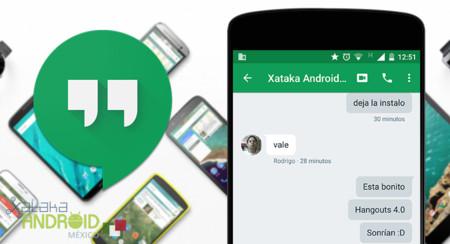 Hangouts para Android inicia el despliegue de su versión 4