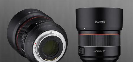Samyang 85 mm f1.4 EF, nuevo objetivo AF luminoso, compacto y ligero para cámaras Canon con sensor full frame