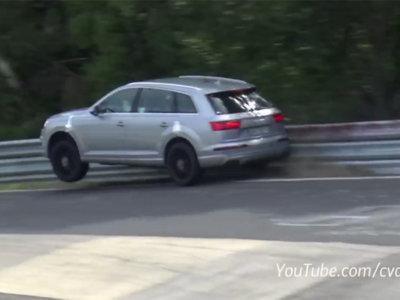 Anda mira, el Audi SQ7 dándose contra el guardarraíl en Nürburgring