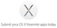 Apple ya pide a los desarrolladores que envíen sus aplicaciones para OS X Yosemite