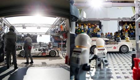 Fotógrafo de carreras recrea algunos momentos de Porsche, pero con coches de Lego