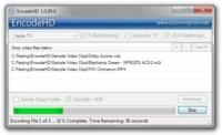 EncodeHD, sencillo conversor de vídeos