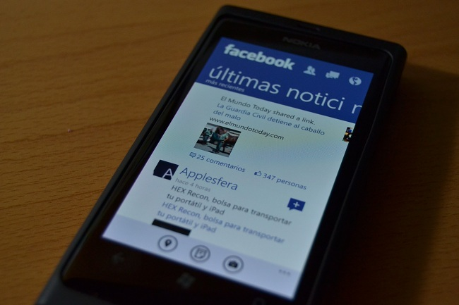 Facebook en Windows Phone