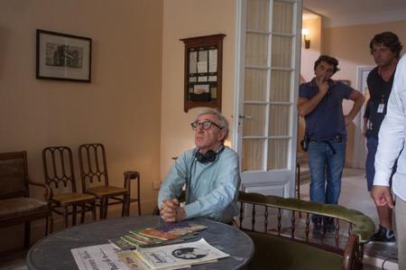 Woody Allen en el rodaje de su última película
