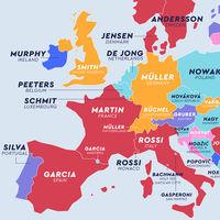 Hernández, Traoré, Wang, Müller: el mapa de los apellidos más comunes en cada país del mundo