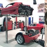 ¡Almas sensibles, abstenerse! Hay que partir en dos el Ferrari F50 para poder cambiar su embrague y cuesta unos 18.000 dólares