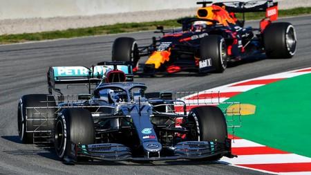 Bottas Albon Barcelona F1 2020