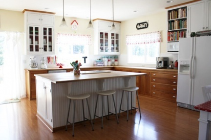 Cocinas peque as comer en la cocina - Cocinas con isla central fotos ...