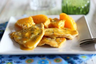 Pavo con naranja y jengibre. Receta