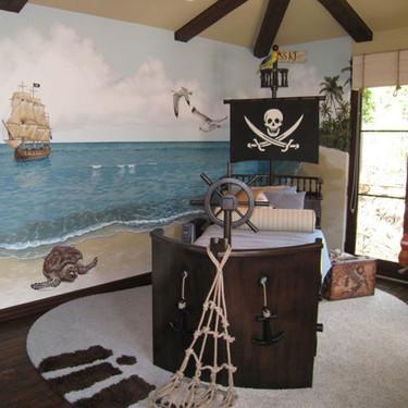 Cama pirata para la habitación infantil