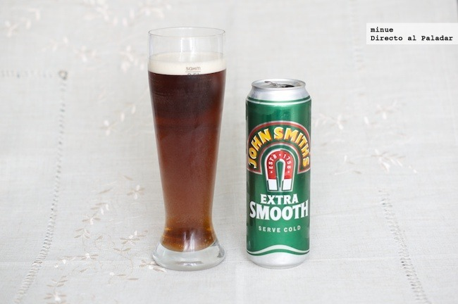 Cata de cerveza John Smith's - vaso