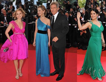 La alfombra roja del Festival de Cannes 2008. Premiere de Indiana Jones