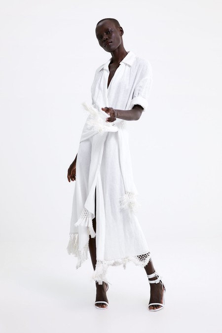 Zara Blanco Verano 2019 14