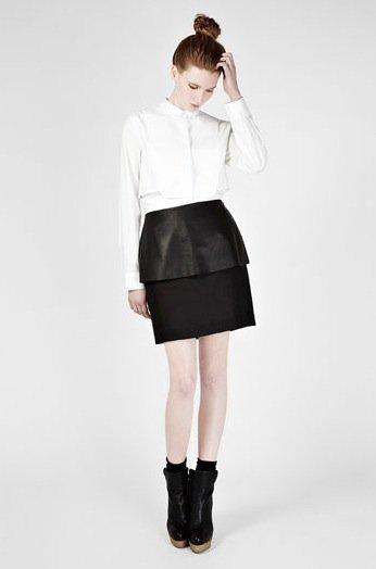 falda negra cos