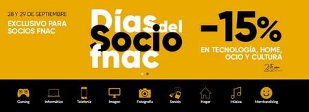 Día del Socio en Fnac: hacerte con tu compra en tecnología, ocio, cultura y hogar lleva hoy y mañana un 15% de descuento