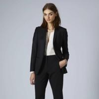 traje sastre negro topshop