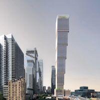 """Este """"rascacielos invertido"""" con una base más pequeña que su ático quiere ser uno de los edificios más altos de Manhattan"""