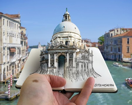 Espectacular fusión de foto y dibujos que nos hace ver monumentos como nunca antes