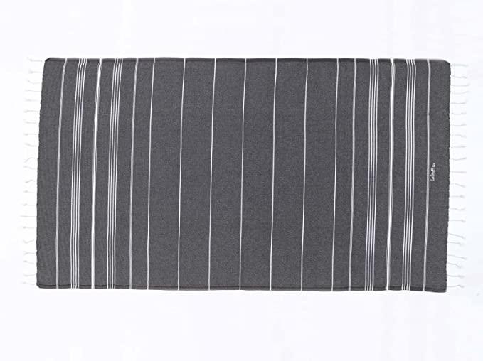 Toalla ecológica LeStoff. Certificado Oeko Tex Standard 100. Ligero y Ultra Absorbente. Anthracite 100 x 180 cm