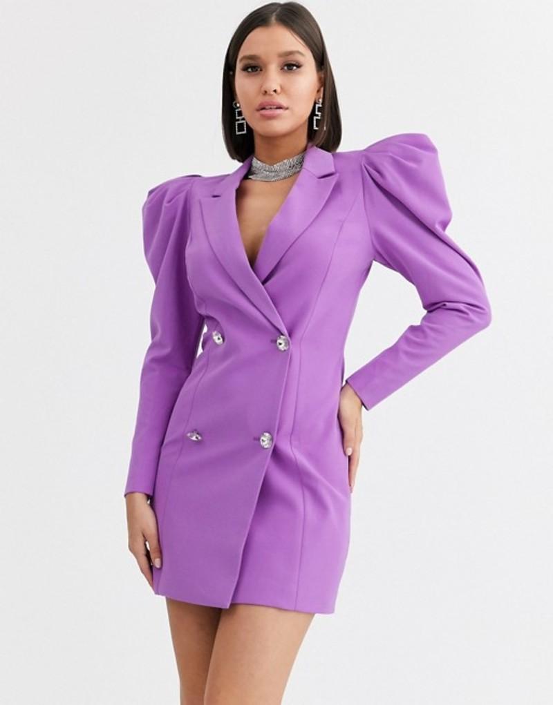 Minivestido estilo americana color violeta