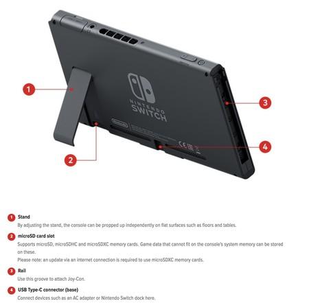 Nintendo Switch Especificaciones 5