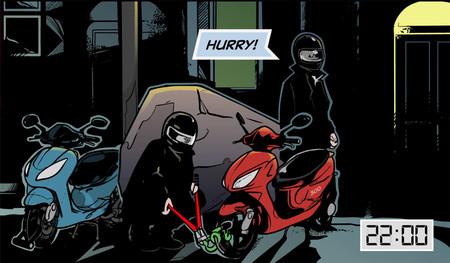 ¡De cómic! La Policía de Londres pretende acabar con los robos de scooter con este vídeo