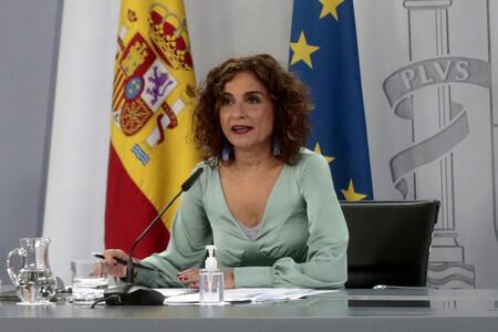 La ministra de Hacienda y portavoz del Gobierno, María Jesús Montero, durante su intervención, al inicio de la rueda de prensa posterior al Consejo de Ministros.