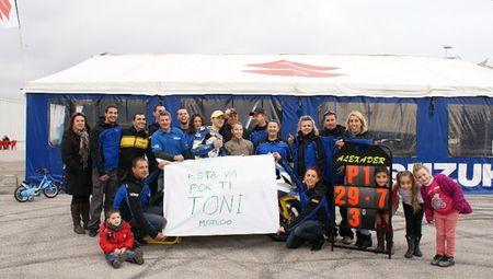 Toni Suñer piloto del Suzuki Speed Racing, sufre grave accidente en Calafat