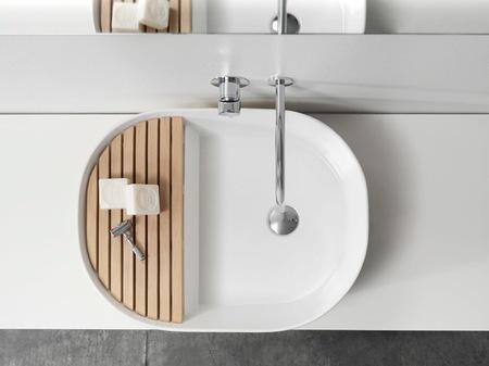 Step, un lavabo con una pequeña zona de almacenaje