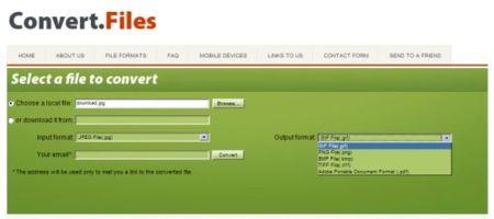 Convert Files, otra opción online para la conversión entre diferentes formatos de archivo