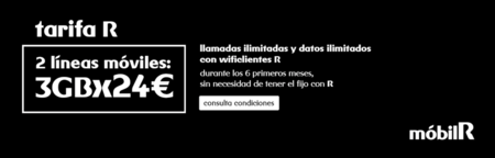 Dos líneas con llamadas ilimitadas y tres gigas por 24 euros, la última promoción de mobilR